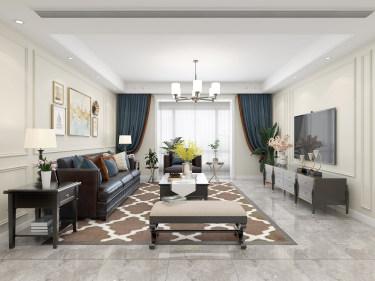 190平奥马和园简美风格-简约美式,实用和颜值全在线-奥马和园小区190平米4室简美装修案例