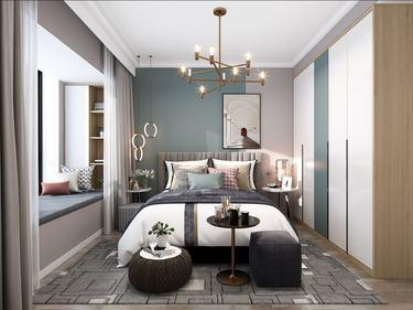 137平保利香颂北欧风格-轻色-保利香颂小区137平米3室北欧装修案例