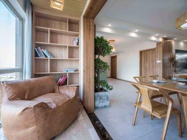 140平世贸御珑湾日式风格-和木·逸瑕-世茂御珑湾小区140平米3室日式装修案例