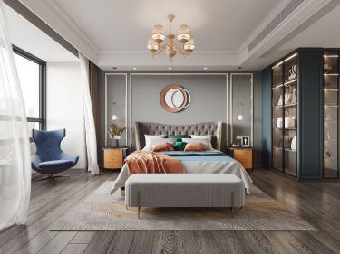 166平汀海壹品美式风格-汀海壹品小区166平米4室美式装修案例