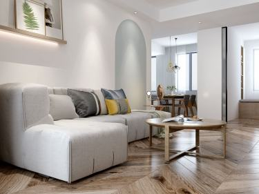130平阳光城北欧风格-阳光城小区130平米3室北欧装修案例