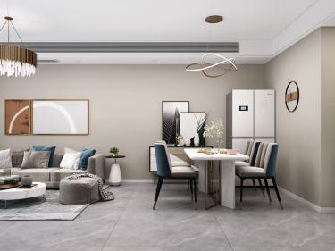 109平春江明月现代风格-精致三居室