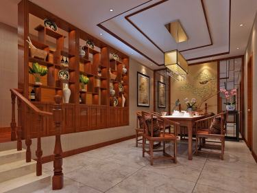 130平金色港湾新中式风格-不言奢华只言生活-金色港湾小区130平米3室新中式装修案例