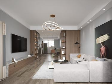 131平皖江雅居现代风格-春天记忆-皖江雅居小区131平米3室现代装修案例