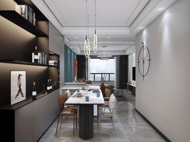 142平河东故事现代风格-清雅洁净,怡心爽神的现代设计