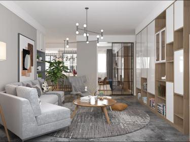 120平诚城常青藤北欧风格-未来可期-诚城常青藤小区120平米3室北欧装修案例