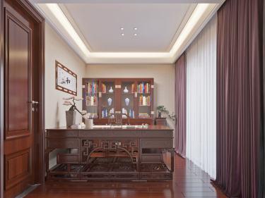 322平远大美域中式风格-远大美域小区332平米别墅中式装修案例