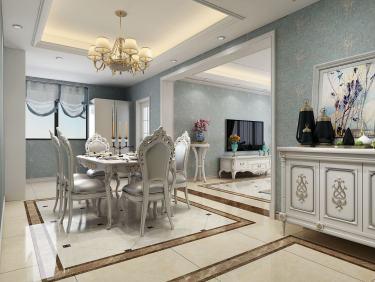 150平一品雅苑欧式风格-一品雅苑小区150平米3室欧式装修案例