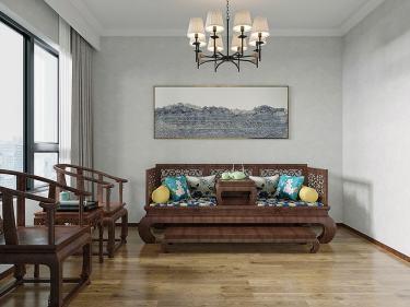 140平国宾府中式风格-国宾府小区140平米4室中式装修案例
