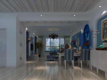 120平金帝桂都地中海风格-金帝桂都小区120平米3室地中海装修案例