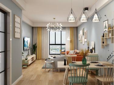 86平中海御景湾北欧风格-开放、舒适、幸福感满满-中海御景湾小区86平米3室北欧装修案例