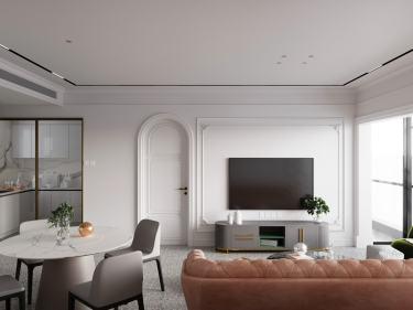 200平南光城市花园现代风格-复式极简私宅,旧宅换新颜。-南光城市花园小区200平米4室现代装修案例