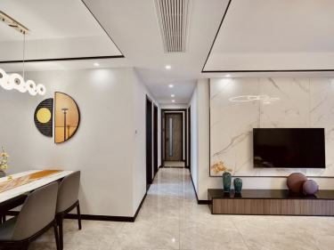 120平錦華星光苑現代風格-遇見熱愛生活的家-錦華星光苑小區120平米3室現代裝修案例