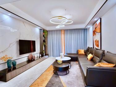 120平锦华星光苑现代风格-遇见热爱生活的家-锦华星光苑小区120平米3室现代装修案例