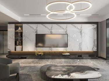 200平建滔裕景园现代风格-建滔裕景园小区200平米4室现代装修案例
