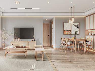 120平阳光公寓日式风格-阳光公寓小区120平米3室日式装修案例