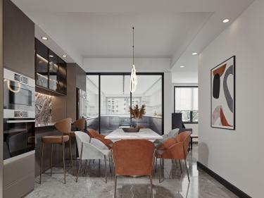 164平墨香居现代风格-墨香居小区164平米4室现代装修案例