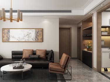 135平乐府兰庭新中式风格-乐府兰庭小区135平米3室新中式装修案例