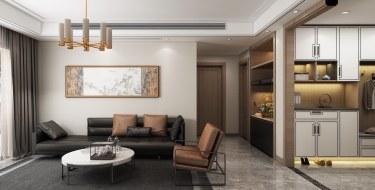135平3室新中式客厅
