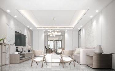 180平4室现代客厅