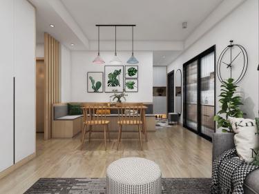 """100平兰州银行职工住宅小区北欧风格-简单的""""幸福"""""""