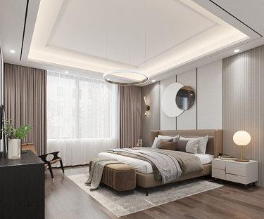 180平4室现代卧室
