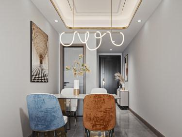 100平2室现代餐厅