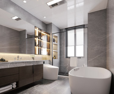 180平4室现代卫生间