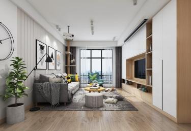 100平2室北欧客厅