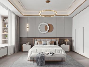 100平金鹰花园现代风格-恰到好处的现代轻奢风-金鹰花园小区100平米2室现代装修案例