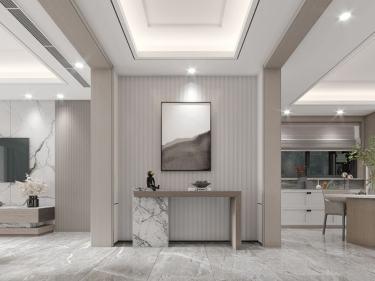 180平金鼎湾状元府现代风格-金鼎湾状元府小区180平米4室现代装修案例