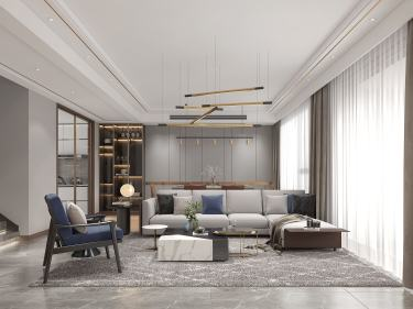 160平姑苏雅集现代风格-从归来的那一刻就开始了-姑苏雅集小区160平米跃层/复式现代装修案例