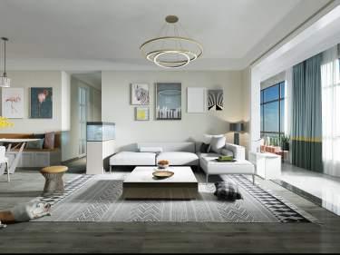 118平建业·公园里现代风格-建业·公园里小区118平米3室现代装修案例