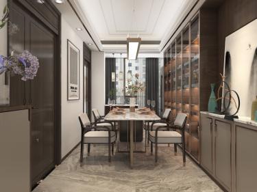141平建业·壹号城邦新中式风格-建业·壹号城邦小区141平米4室新中式装修案例