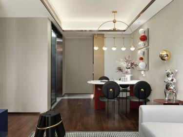 98平华府翡翠庄园现代风格-当下流行的生活家-华府翡翠庄园小区98平米3室现代装修案例
