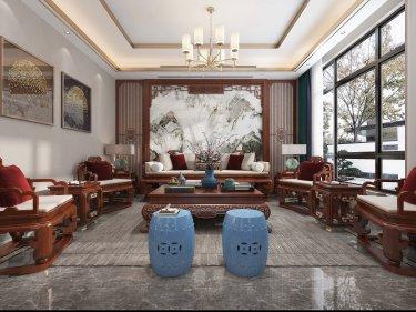 370平聚贤庭院新中式风格