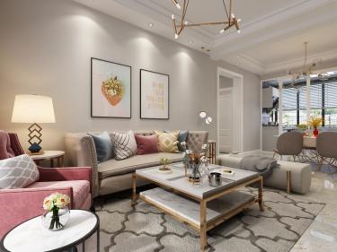 120平华恩城简美风格-精致并无繁华-华恩城小区120平米3室简美装修案例