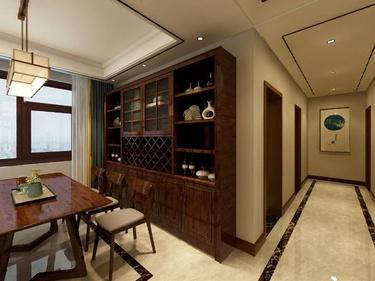 150平香榭丽领秀城中式风格-典雅中式风,几份乡暮几韵情