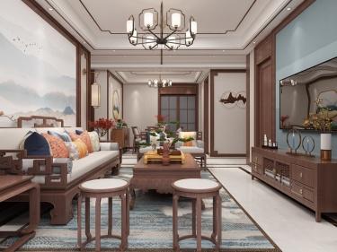 124平恒大悦珑湾中式风格-古典雅韵,清风明月好时光
