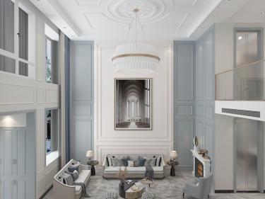 380平龙城公馆简美风格-轻奢大气现代美式别墅