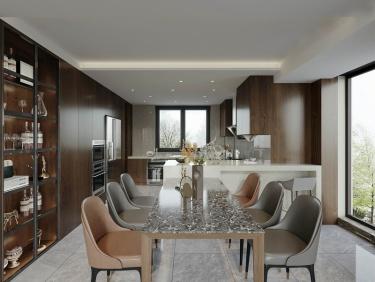 350平月亮湾现代风格-月亮湾小区350平米别墅现代装修案例
