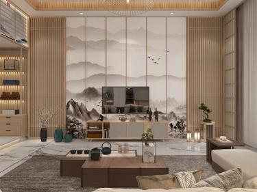 300平南山别墅日式风格-兴茂·悠然南山小区300平米别墅日式装修案例
