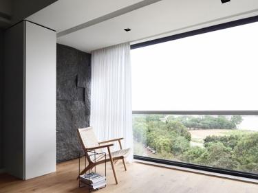 129平长湖景苑现代风格-两口之家的极简主义诗意美学