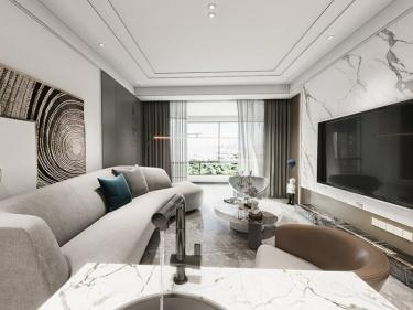 130平鲁商公馆现代风格-低调奢华有内涵,这才是理想中的家