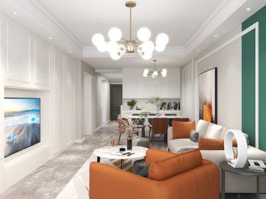 107平时代尊城简美风格-时代尊城小区107平米3室简美装修案例
