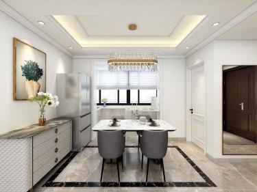 90平2室法式餐厅