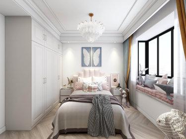 90平2室法式卧室