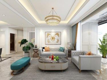90平2室法式客厅
