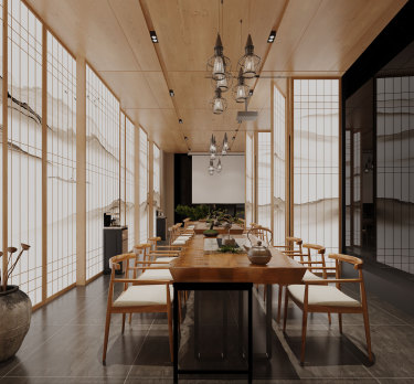 212平5室日式餐厅