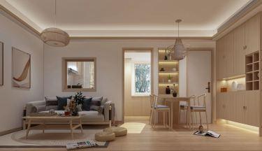 60平2室日式客厅